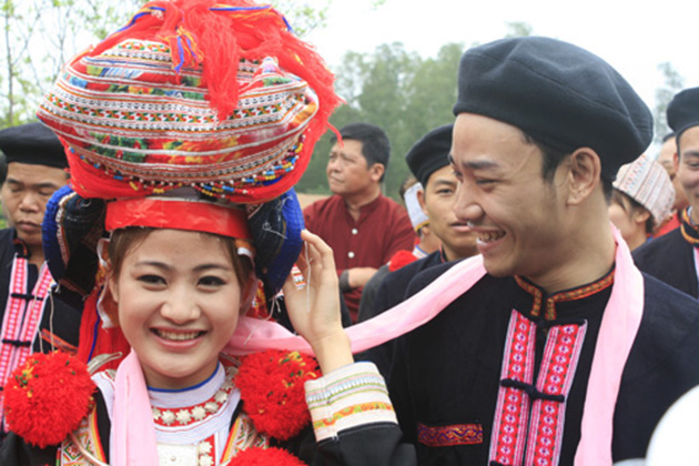 The wedding of Red Dao people