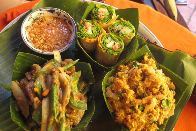 Typical dishes of Khmer people