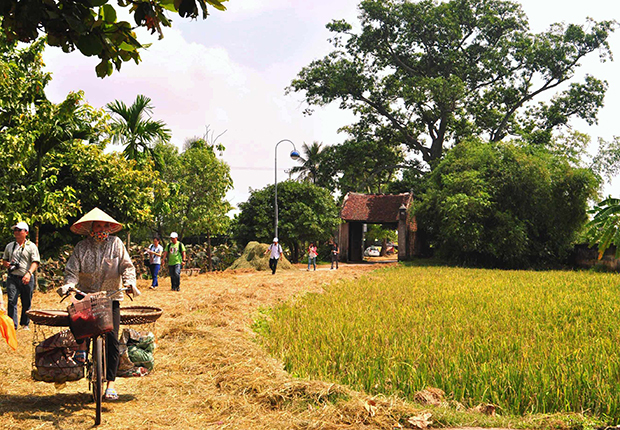 Village in Vietnam where Kinh people live and work together