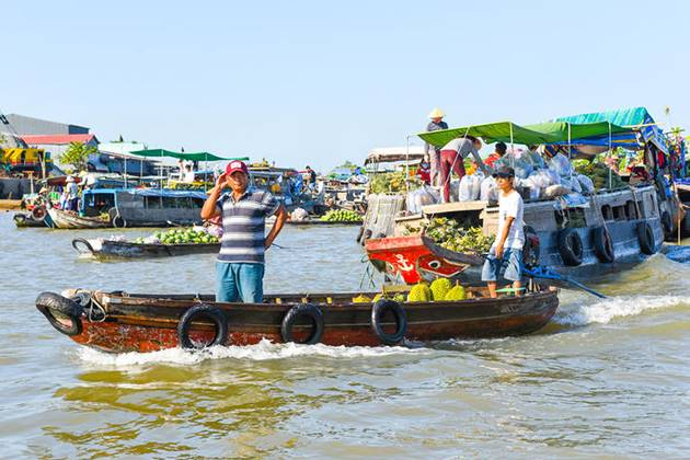 cai be floating market thailand cambodia vietnam tour in 19 days