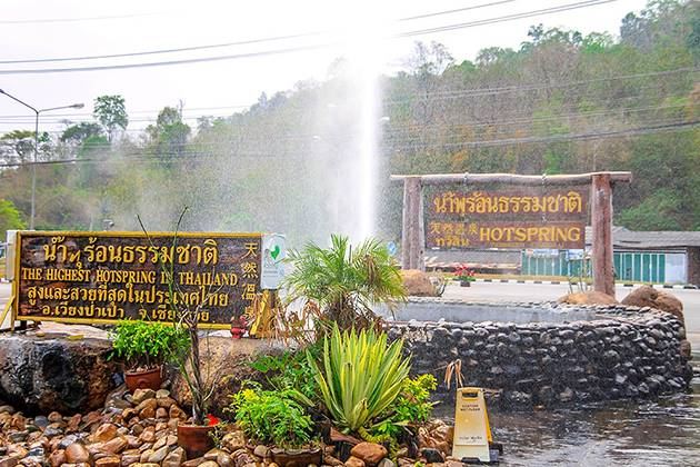 enjoy Mae Khachan Hot Spring on thailand vietnam cambodia tours