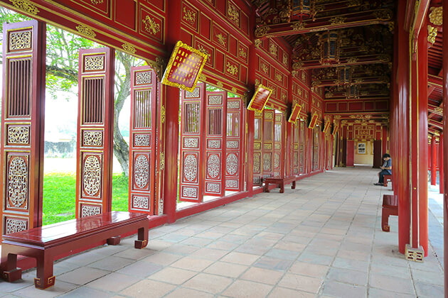 inside the complex of hue monuments