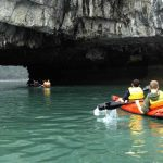 kayaking journey in halong bay