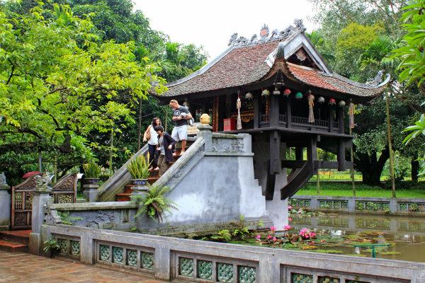 one pillar pagoda ba dinh square