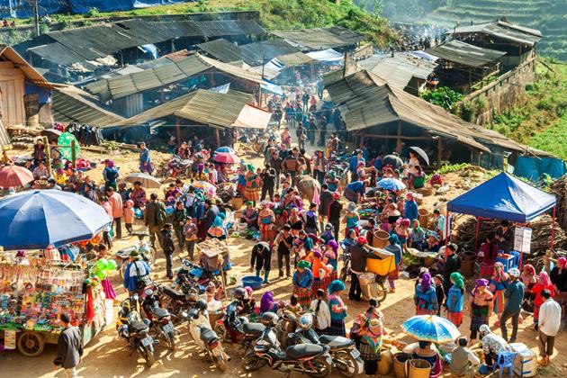A corner of Can Cau Market