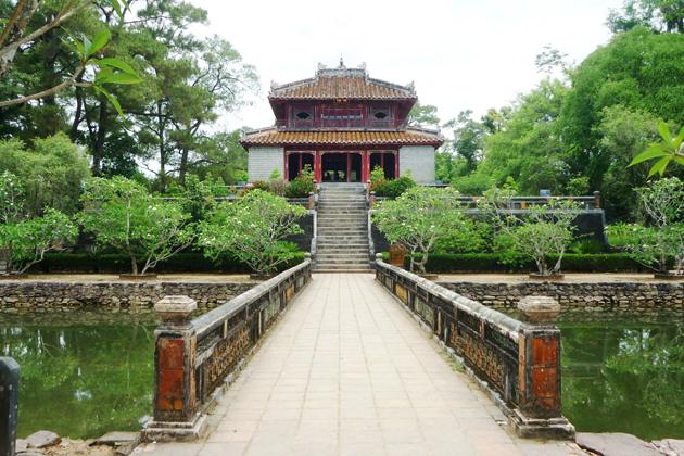 Minh Lau pavilion at king minh mang tomb hue
