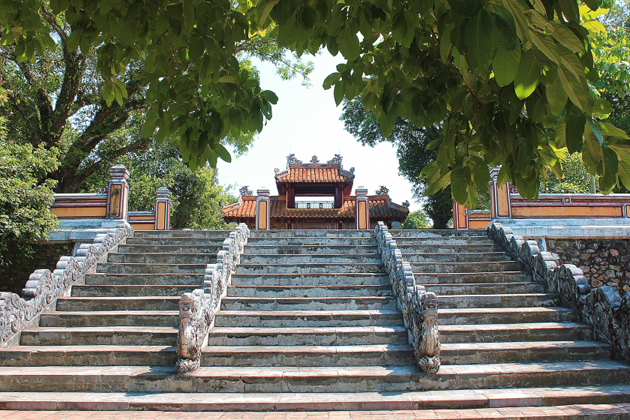 The entrance way to Gia Long Tomb