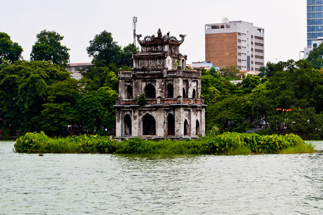 Turtle Tower, Hoan Kiem Lake