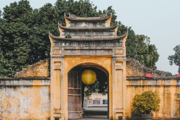 a gate inside thang long imperial citadel