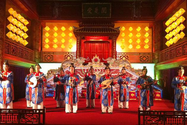 performance of nha nhac vietnamese court music in hue