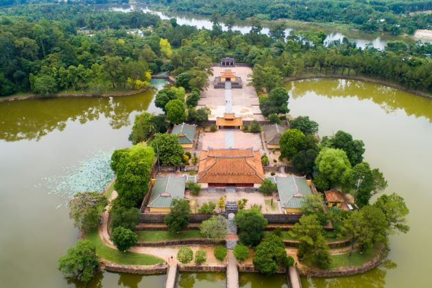 tomb of emperor minh mang from above
