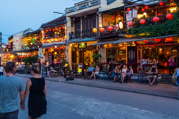 A corner of Hoi An Ancient Town at night