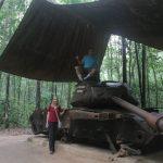 American battle tank in Cu Chi Tunnel