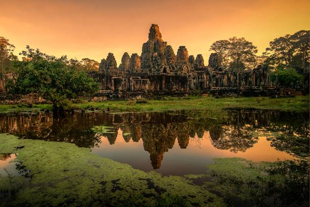Bayon Temple at the sunset