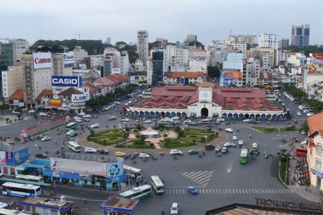 Busy traffic in Saigon