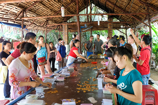 Coconut candy workshop in Mekong delta
