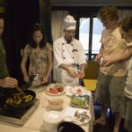 Cooking demonstration on cruise Halong
