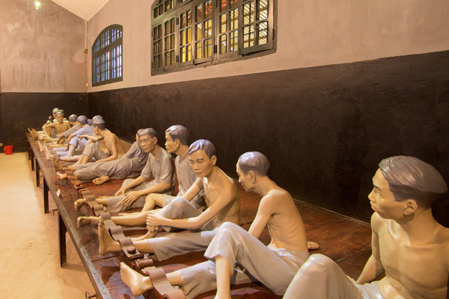 Hoa Lo Prison Museum showing interior views