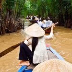 Boat ride along the canals of Mekong Delta