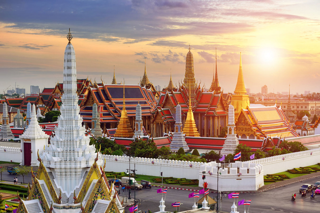 Sunset over Bangkok Thailand Cambodia tour