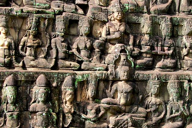 Terrace of the Leper King in siem reap cambodia vietnam laos tour packages