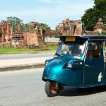 Tuk-Tuk travel in Ayutthaya thailand and cambodia tour