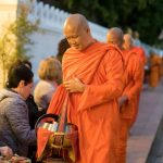 morning alms giving in luang prabang laos