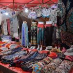 night market in luang prabang laos
