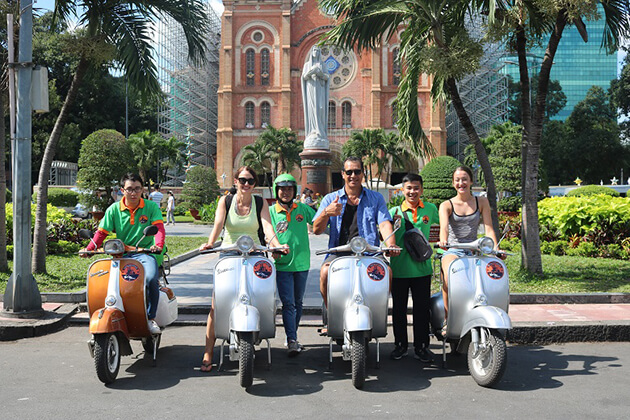 scooter ride in saigon