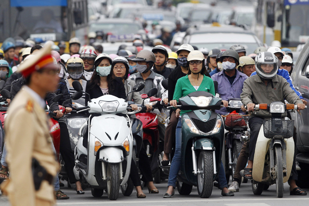the huge amout of motorcycles vietnam facts