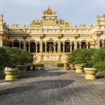 the well-known vinh trang pagoda in mekong delta