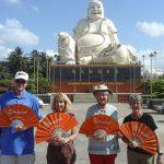 visit vinh trang pagoda vietnam laos cambodia tour in 19-days