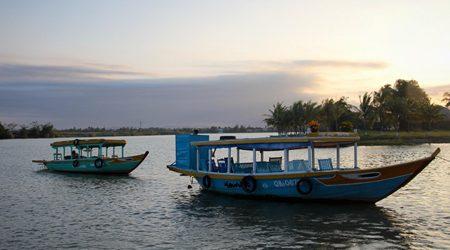Boat trip in Thu Bon River
