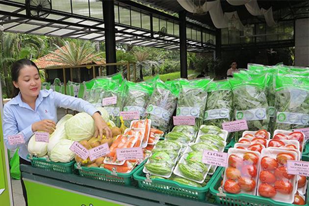 Safe vegetable shop in Saigon Vietnam