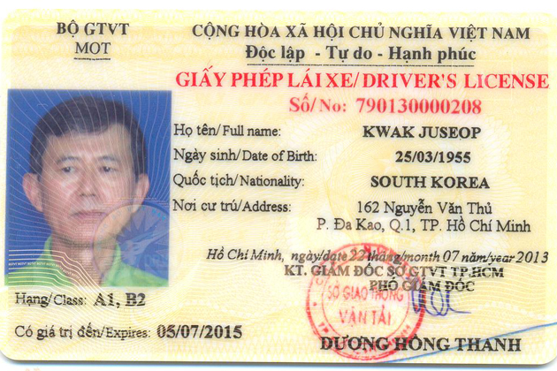 Vietnamese driving license for expatVietnamese driving license for expat