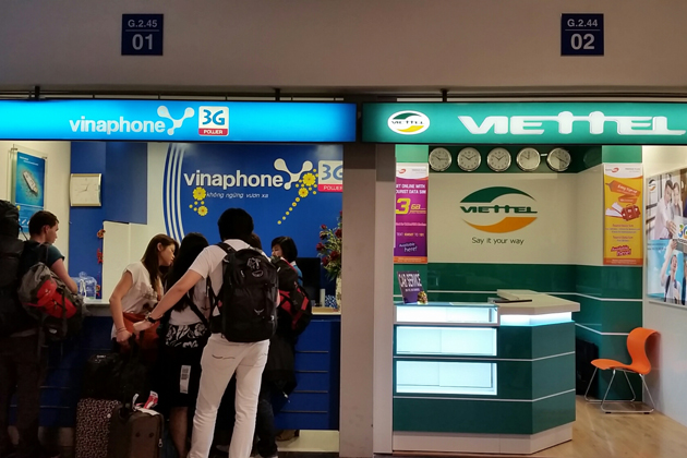 Vinaphone, Viettel and Mobilefone are the best SIM card operators in Vietnam