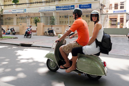 View the City from the Back of a Vespa - Vietnam Vacation
