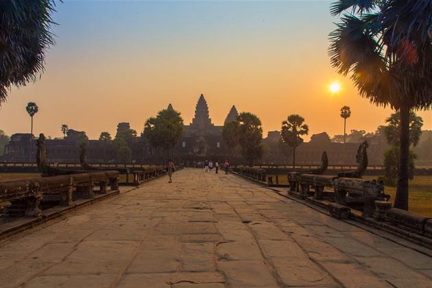 Sun rise over Angkor Wat