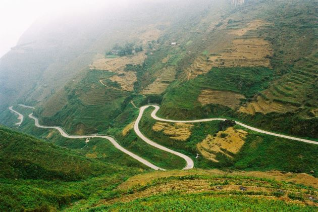 ma li peng pass in ha giang vietnam