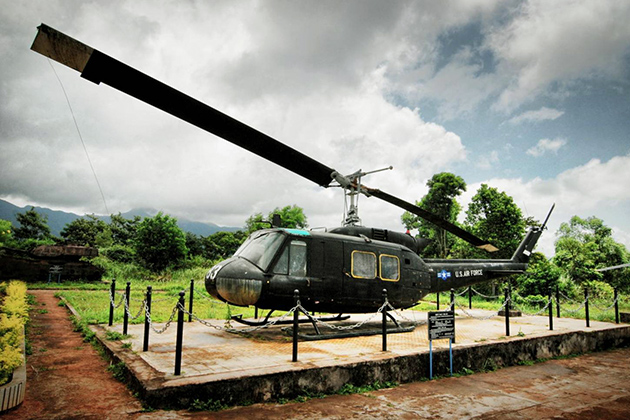 Airplane on outdoor exhibition in DMZ