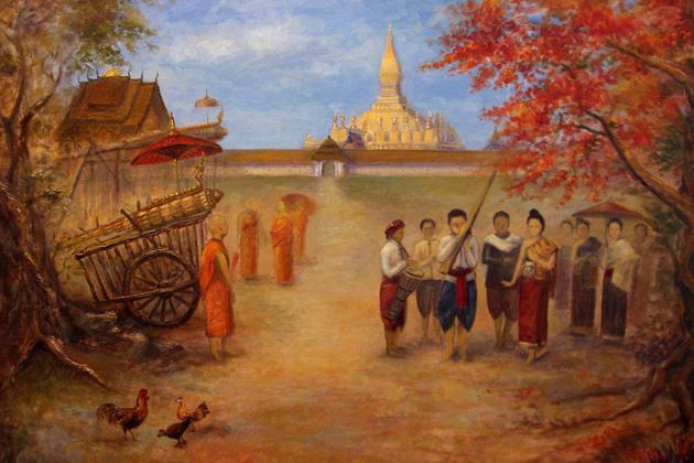 Laos art paintings