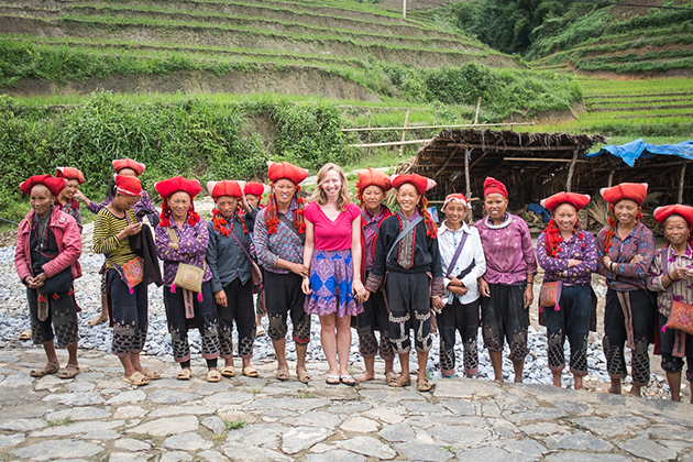 Red dzao women in Northern Vietnam