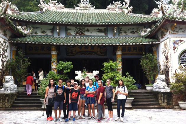 School group visit Ling Ung Pagoda, Danang