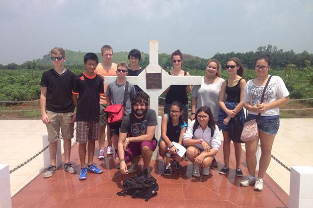 School trip in Long Tan Nui Dat