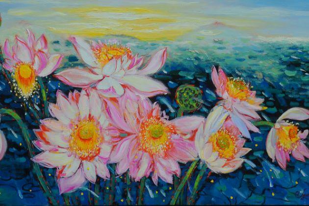 vietnamese painting at nguyen art gallery