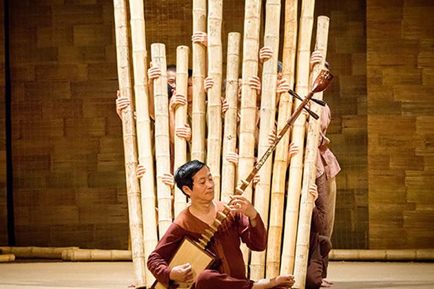 Exotic folk musical instruments in My Village