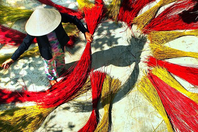 mat weaving village vietnam tour in 2 weeks