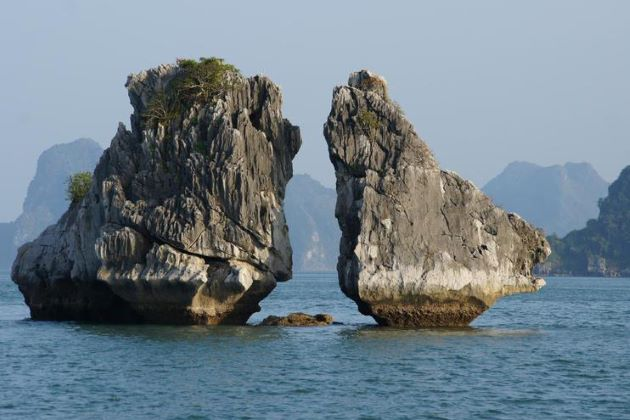 fighting cock island in halong bay