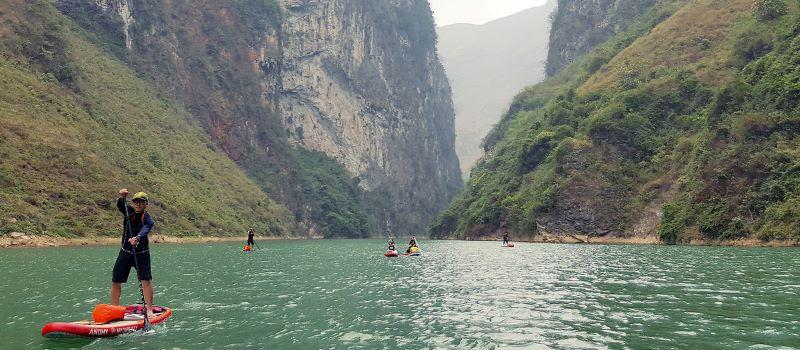 nho que river in ha giang vietnam