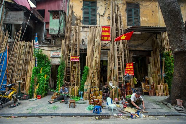 a corner of hanoi old quarter vietnam 21 day itinerary